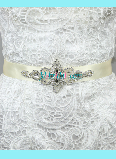 BM04 Crystal wedding sash rhinestone bridal belt
