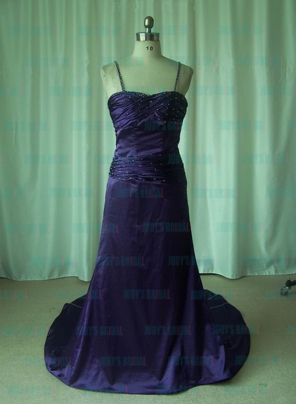 JM11003 sexy backless purple evening prom gown with thin straps