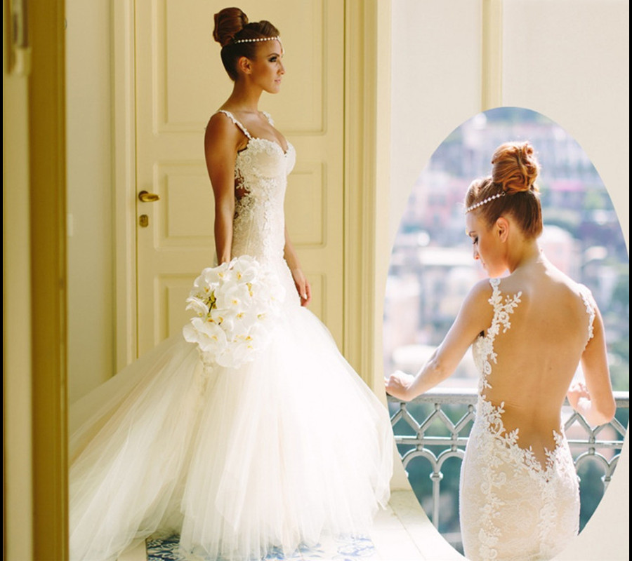 stunning backless lace mermaid wedding dresses