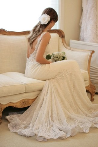 designer inspired backless mermaid wedding dresses