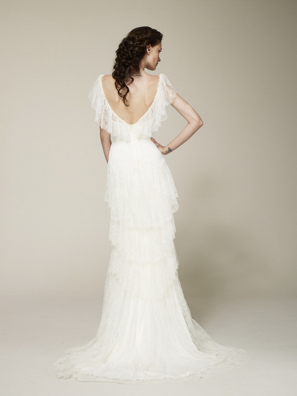 designer inspired lace backless wedding dresses
