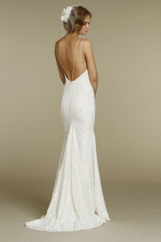designer inspired backless lace wedding dresses