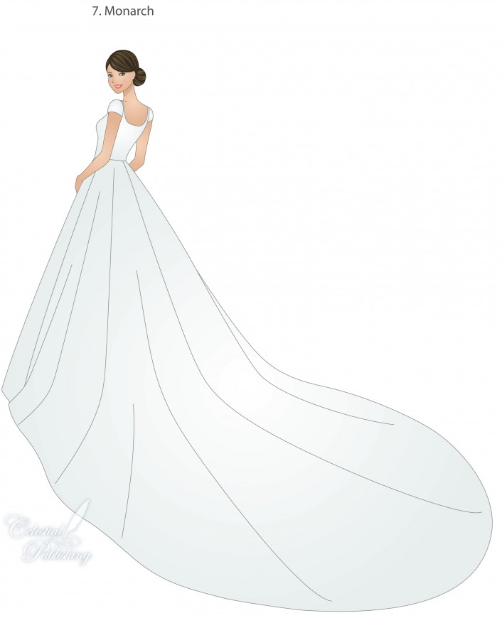 Wedding Dresses With Sweep Train Court Panel And Watteau Styles