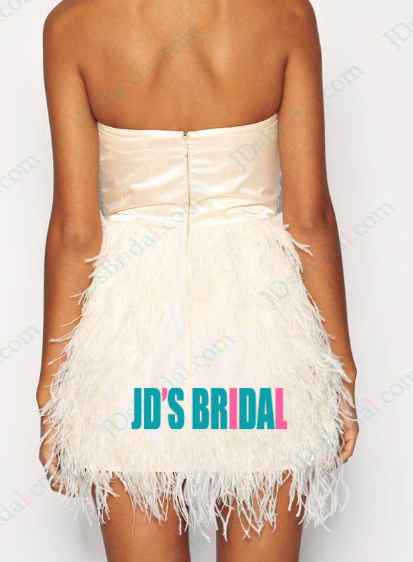 5d3f077e4a JP11028 Inspired Design petite crystal ostrich feather party dress :
