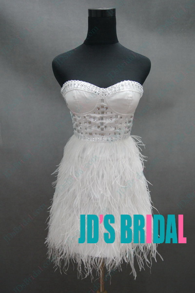 f32a11207fc JP11028 Inspired Design petite crystal ostrich feather party dress