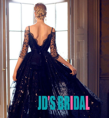 1a91cc21479d LJ14137 black off shoulder half long sleeve high low lace prom evening dress