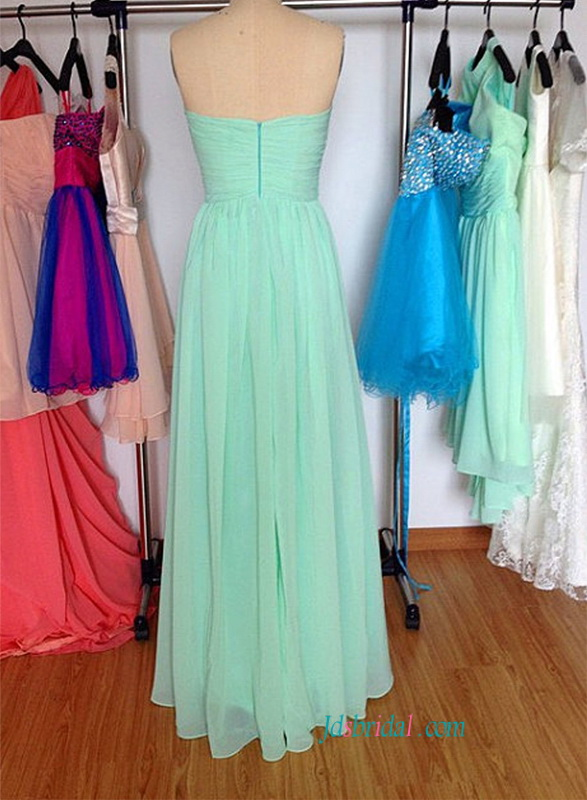 PD16099 mint green chiffon long prom dress bridesmaid dress