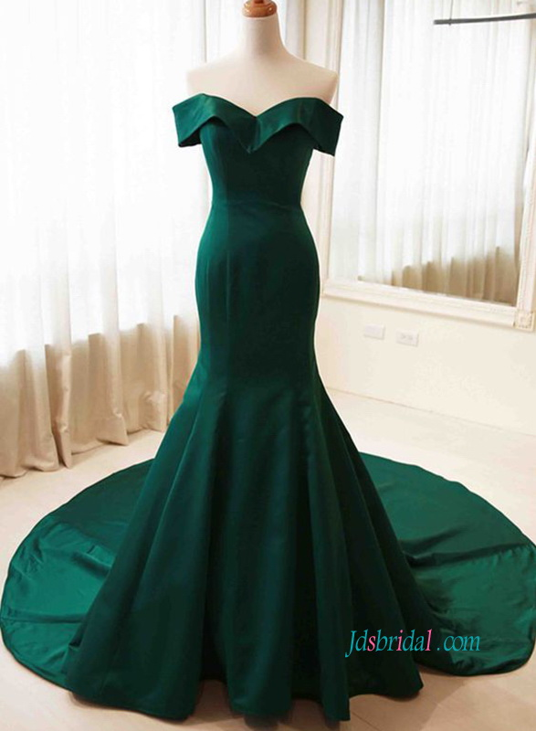PD18013 Chic strapless green mermaid prom dress evening gowns