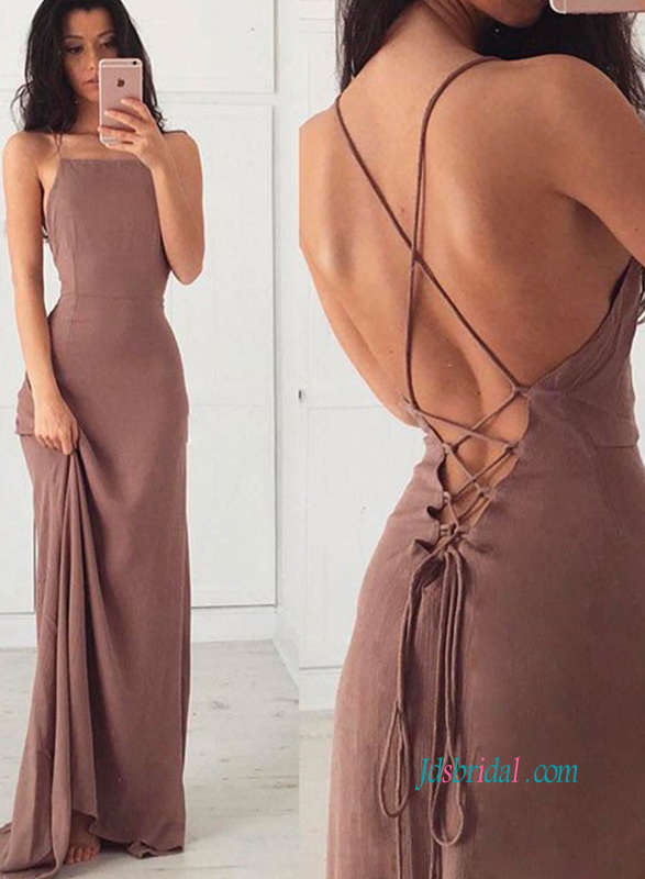 Brown sexy prom dresses