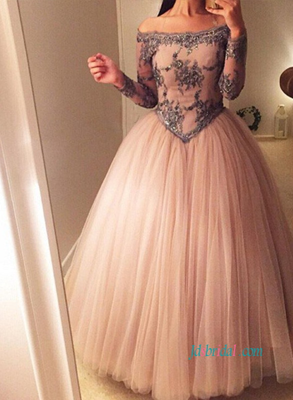 9647428883b1 PD18068 Sweety off the shoulder blush pink quinceanera prom dress