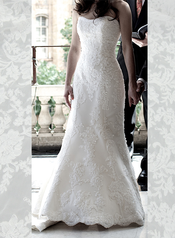 JC11025 Amazing Mermaid chapel Train Lace Wedding Dress
