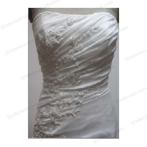JCD12001 Strapless A line couture wedding dress gowns