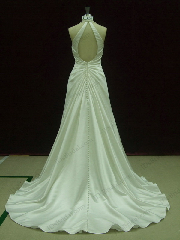 JCD12033 Sexy fitted and flare Ivory open back wedding dresses