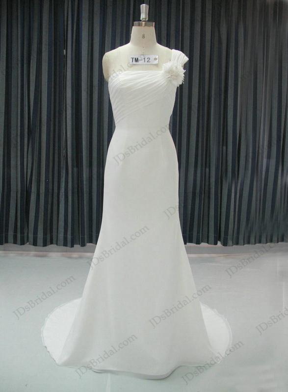 One Shoulder Simple Wedding Dresses