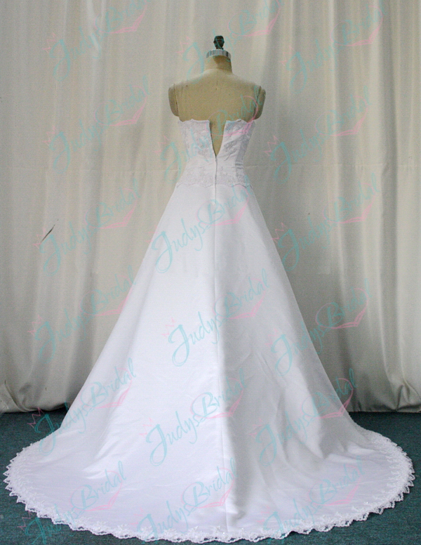 JW11005 formal satin wedding dress bridal gowns
