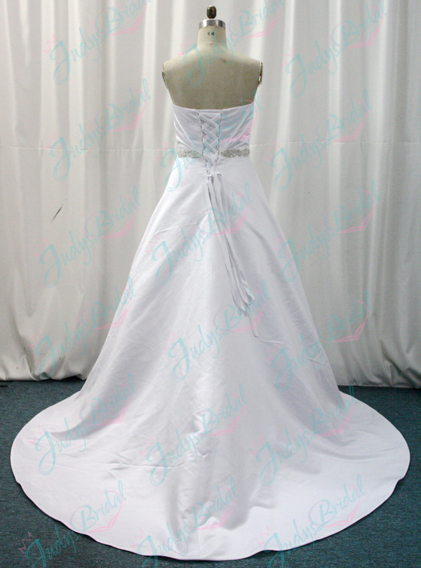 JW11016 satin plus size wedding dresses bridal gown