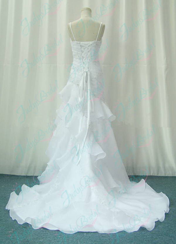 JW11066 sexy deep v neckline white wedding dress