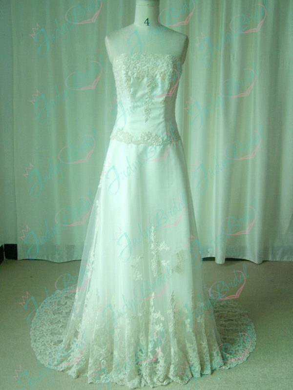 perfect fairytale inspired vintage lace a line wedding dress with tulle skirt