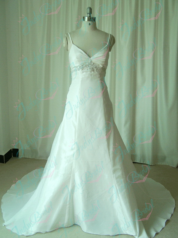 JW11082 V neckline empire Ivory wedding bridal gown