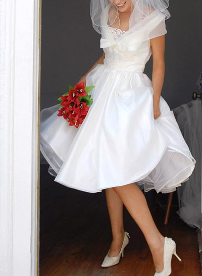 JWD059 short vintage best selling white bridal gowns