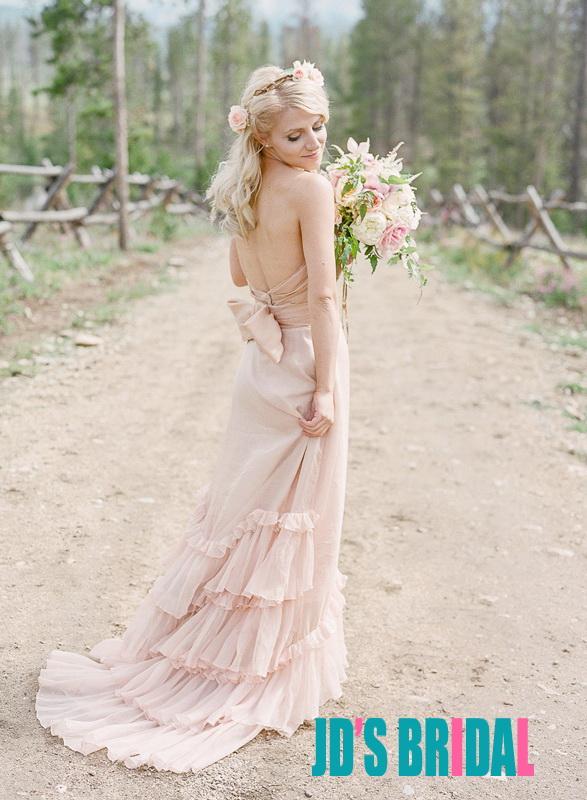 Pics For Gt Light Pink Beach Wedding Dress