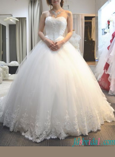 H1364 Sweety full princess tulle ball gown wedding dress