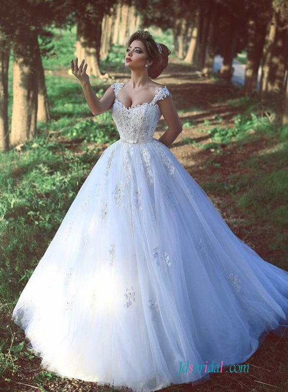 Lace bodice ball gown for Fairytale ball gown wedding dresses