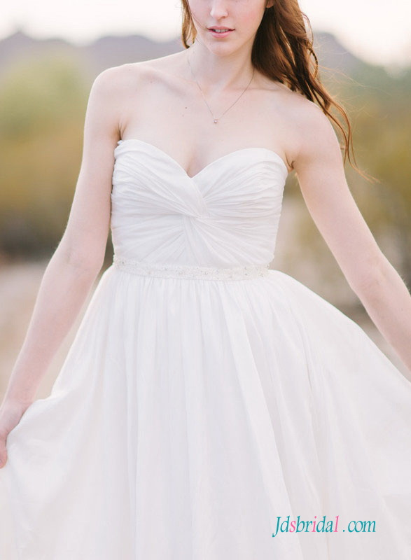 H1518 Simple elegant sweetheart a line wedding dress