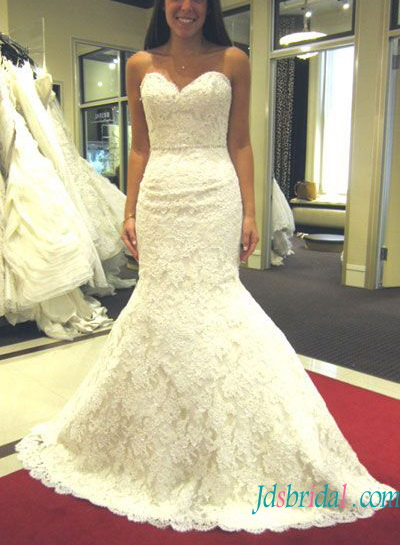Fitted To Flare Wedding Dress