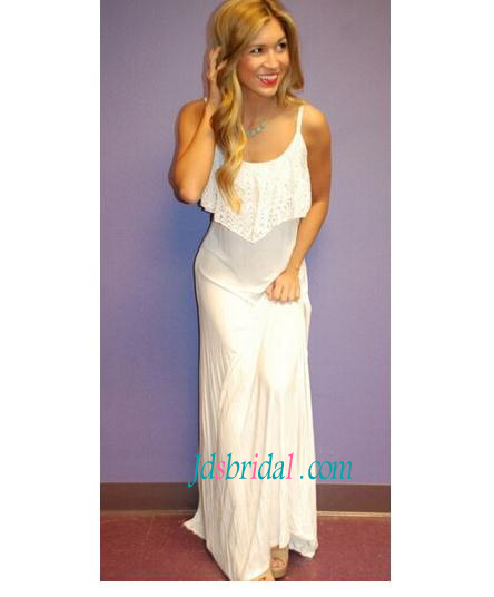 H1593 Simply lighter loose boho beach wedding dress prom gowns