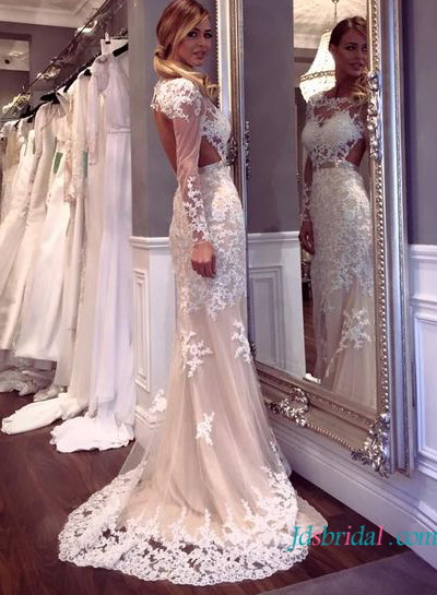 Wedding Dresses With Lace Back Cut Out 4