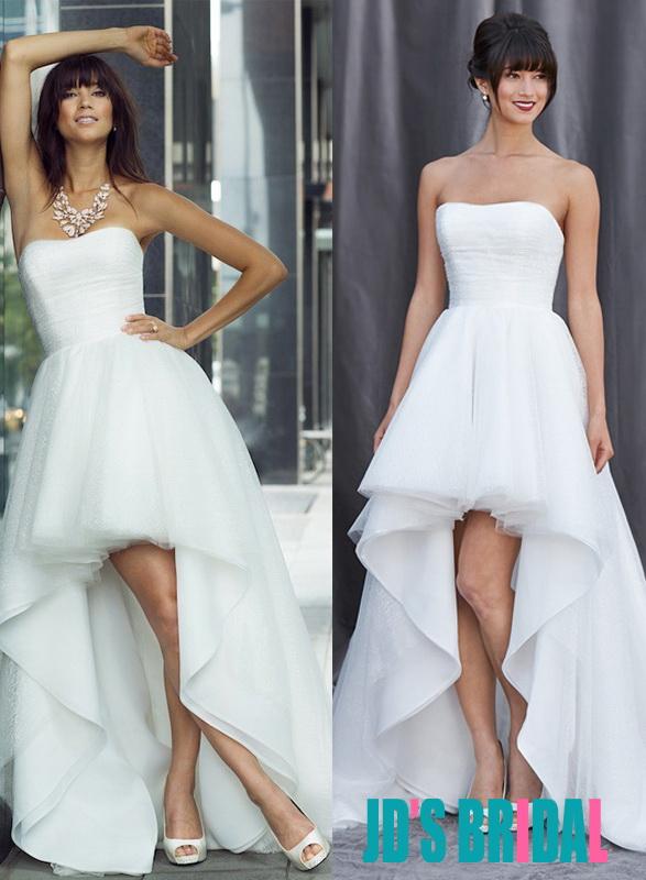 Wedding dress high low hemline cheap wedding dresses for High low wedding dresses cheap