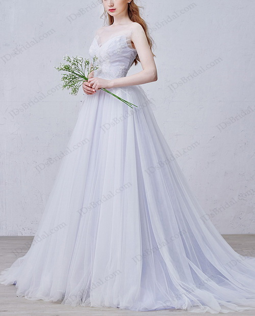 Is009 fairy purple colored woodland tulle wedding dress for Fairytale inspired wedding dresses