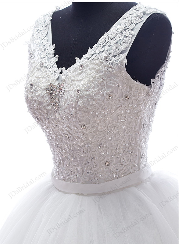 Is052 Casul Plus Size Strappy Puffy Ball Gown Wedding Dress