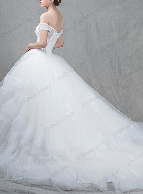 IS060 Princess illusion tulle ball gown wedding dresses online shop :