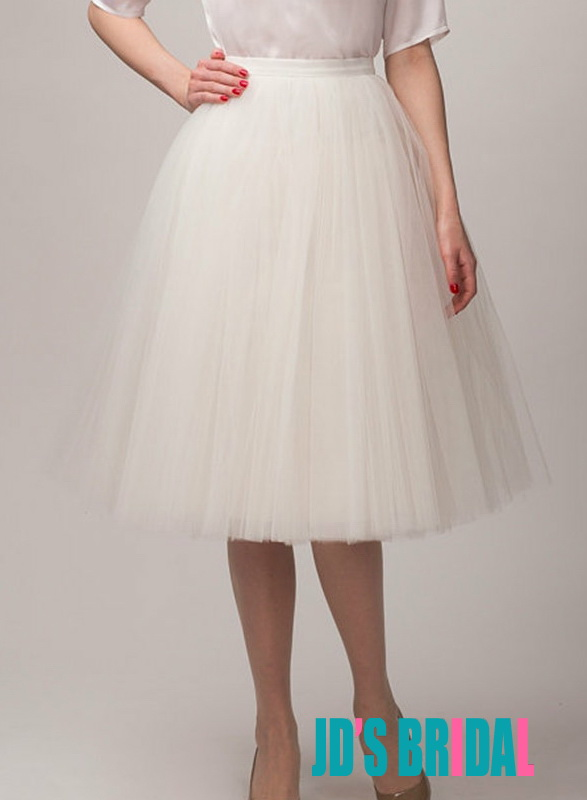 JS406 Lovely solid colored short tulle skirt wedding skirts