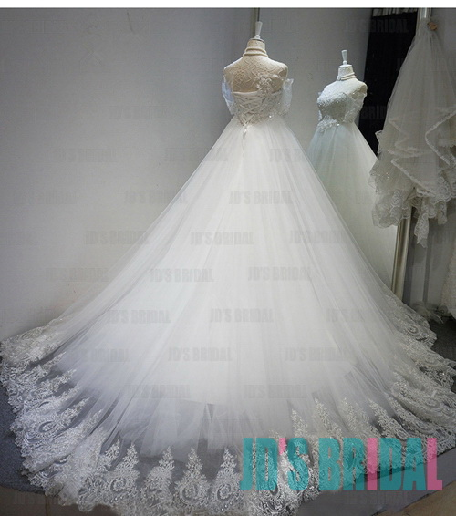 JW16186 Fairytale sweetheart neckline tulle ball gown wedding dress