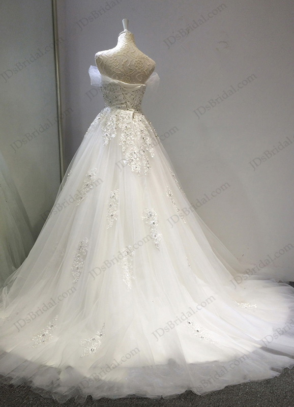 Jw16202 fairy tale crystal details sweetheart neckline for High low ball gown wedding dress