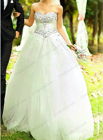 JW16205 Sparkles sweetheart neckline princess ball gown wedding dress :