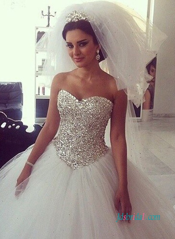 sweetheart princess wedding gowns