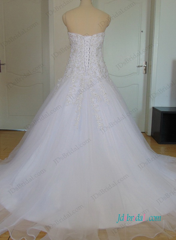 H0983 Plus size sweetheart neck embroidery wedding dress