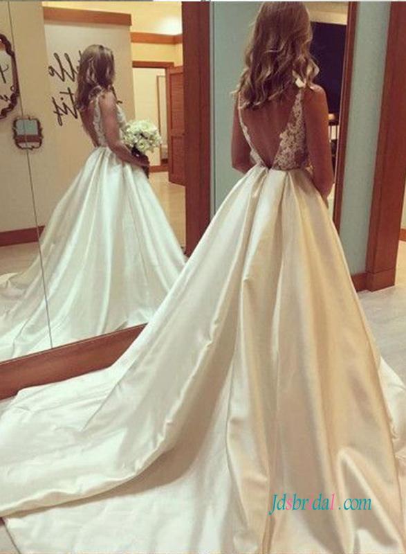 Taffeta Wedding Dresses Cheap Lace Mermaid Ball Gown Wedding Dress