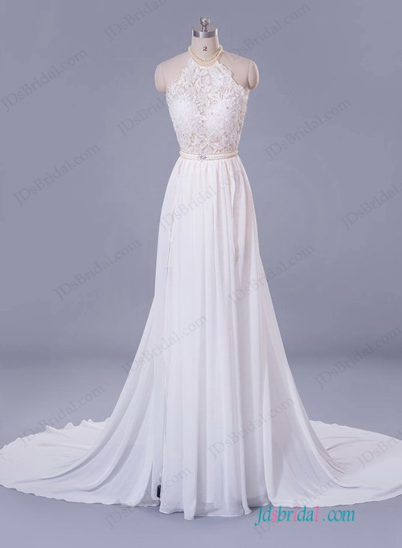Boho Wedding Dresses Lace Column