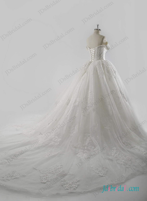 H1273 Royal Stylish Cinderella Wedding Princess Ball Gown Dress