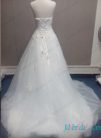 H1290 Fairy sweetheart neckline tulle ball gown wedding dress