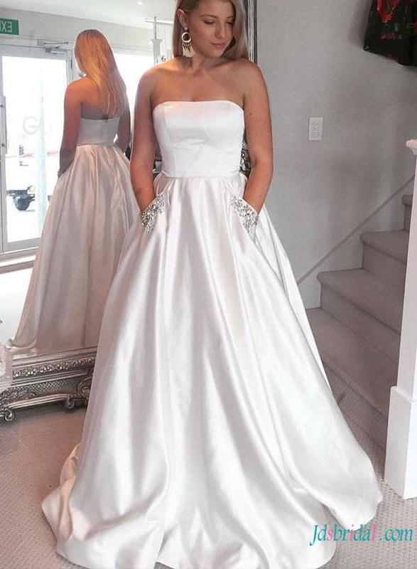 A Line Wedding Dressescheap Modest Simply A Line Wedding Gowns