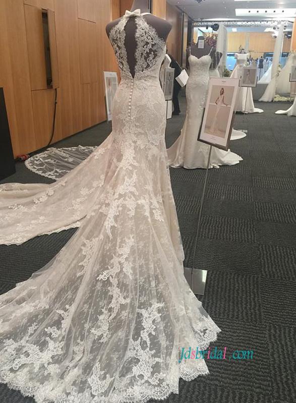 ae6807fcdd72 Halter Neck wedding dresses,Sexy simple sheath cheap wedding gown