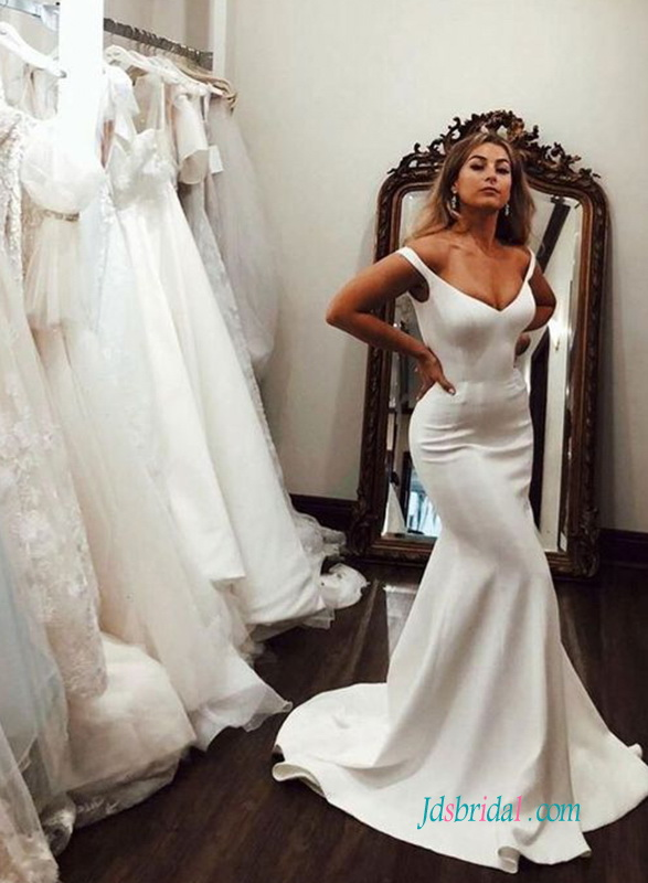 H0587 Sexy classic off the shoulder mermaid wedding dress