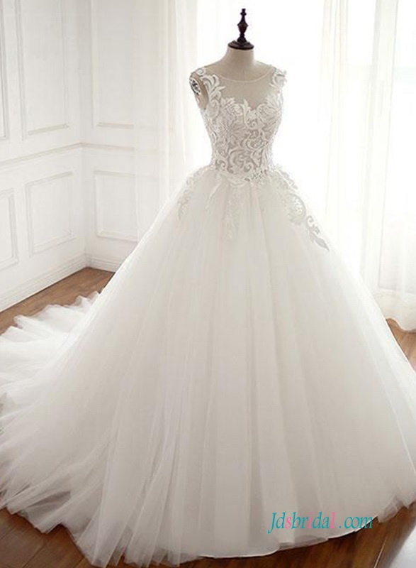 H0602 New princess ball gown tulle wedding dress
